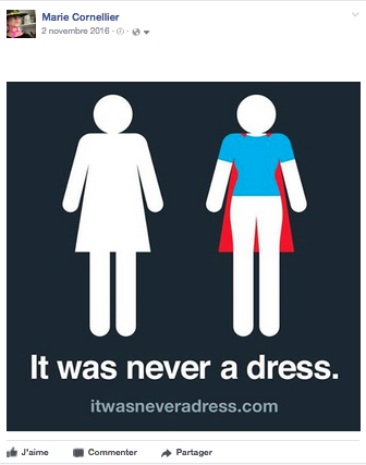 It was never a dress.